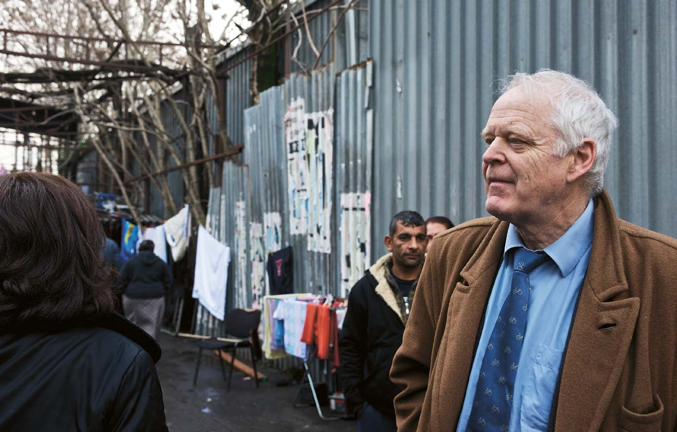 Thomas Hammarberg, Commissioner for Human Rights of the Council of Europe visiting the Roma camp in Monti Tiburtini, Italy.
