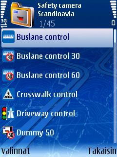 Select and Open Category The content can vary, depending on the available traffic control devices in the selected region.