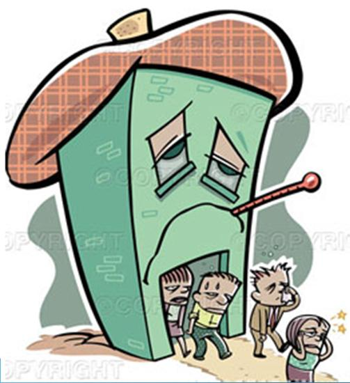 Sick Building Syndrome People generally have less control over the indoor environment in their work environments than they do in their homes Psychosomatic view of their environment Large numbers of