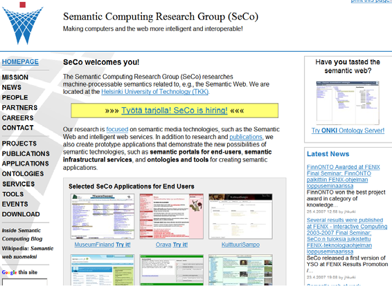 Questions??! Semantic Computing Research Group: http://www.seco.tkk.