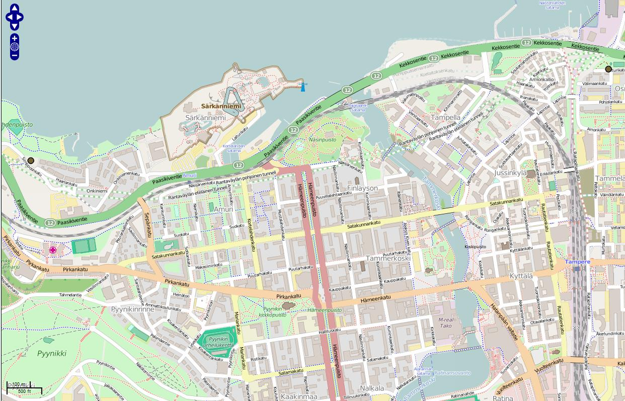 12 Kartta-aineisto: OpenStreetMap.org (Creative Commons Attribution-ShareAlike 2.) Kuva 3.
