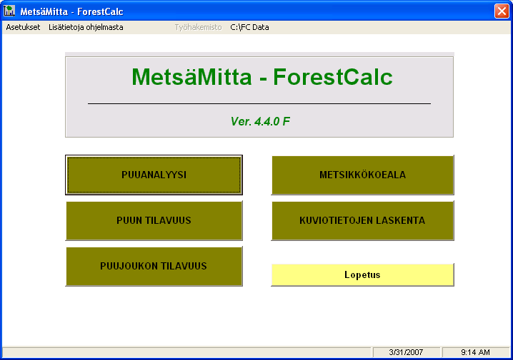 1998 2009 ForestCalc Consulting Oy, Joensuu, Finland 5.