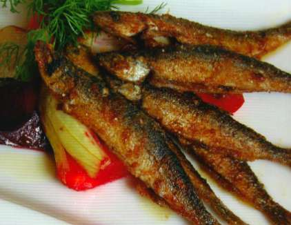 Toss the fish in the flour mix and fry the fish in a pan with butter until it looks crispy-brownish.