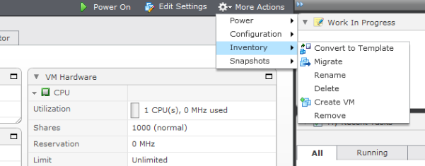 Features of the vsphere Web Client Ready Access to Common