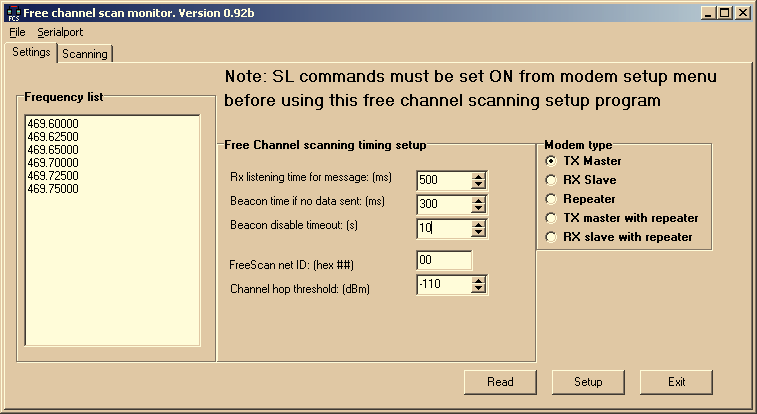 3.8 Free Channel Scan (FCS) toiminto SATELLINE-3AS Free Channel Scan (FCS) eli vapaan radiokanavan haku on toiminto, joka soveltuu yhdensuuntaiseen tiedonsiirtoon yhden lähettimen ja yhden tai