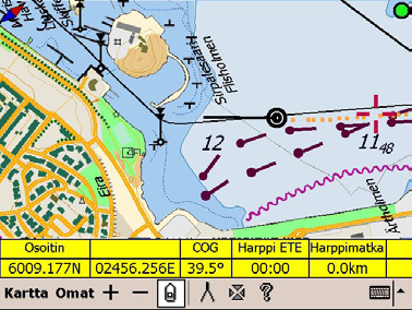 Tasku Loisto Photonav comes preinstalled with a trial version of the Tasku Loisto navigation software for land and sea.