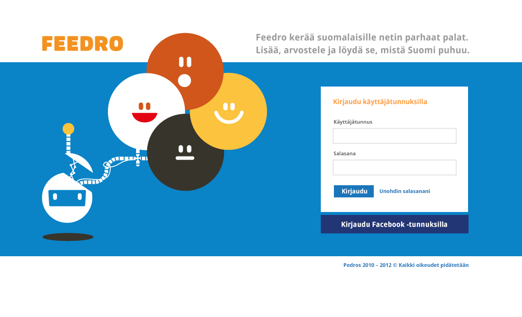 Feedro.fi Art direction.