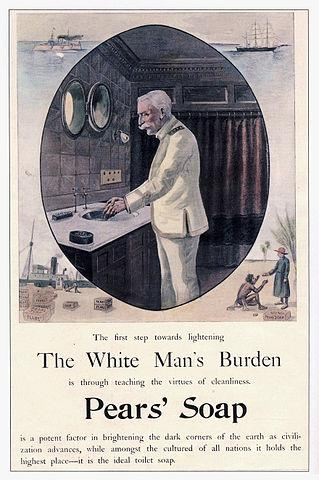 "Rudyard Kiplingin runo: ""The White Man's Burden: The United States and the Philippine Islands (1899) Take up the White Man's burden Send forth the best ye breed Go bind your sons to exile To serve"