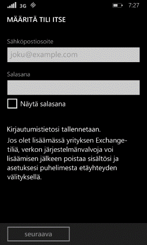 Elisa Oyj 19/31 6.3. Windows Phonen 8.