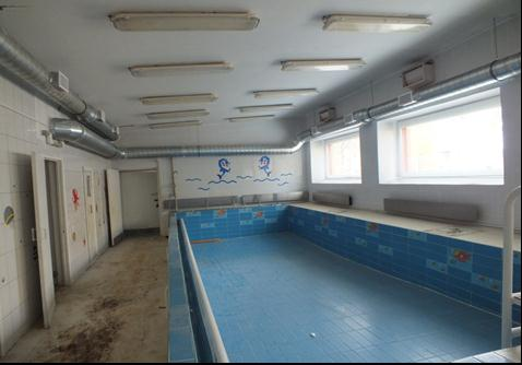 Figure 20. The entire swimming pool, after repair. At the moment, air temperature has normalised, and there is no excess humidity. Proper ventilation should save energy from 62 to 92 percentages.