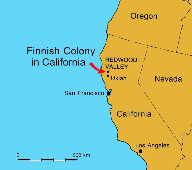 REDWOOD VALLEY California, USA (1912 1932) Sosialistinen &