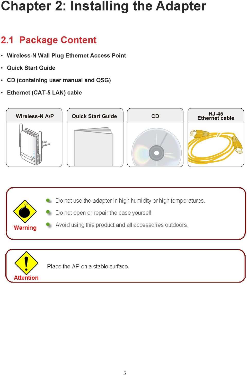 Ethernet Access Point Quick Start Guide CD
