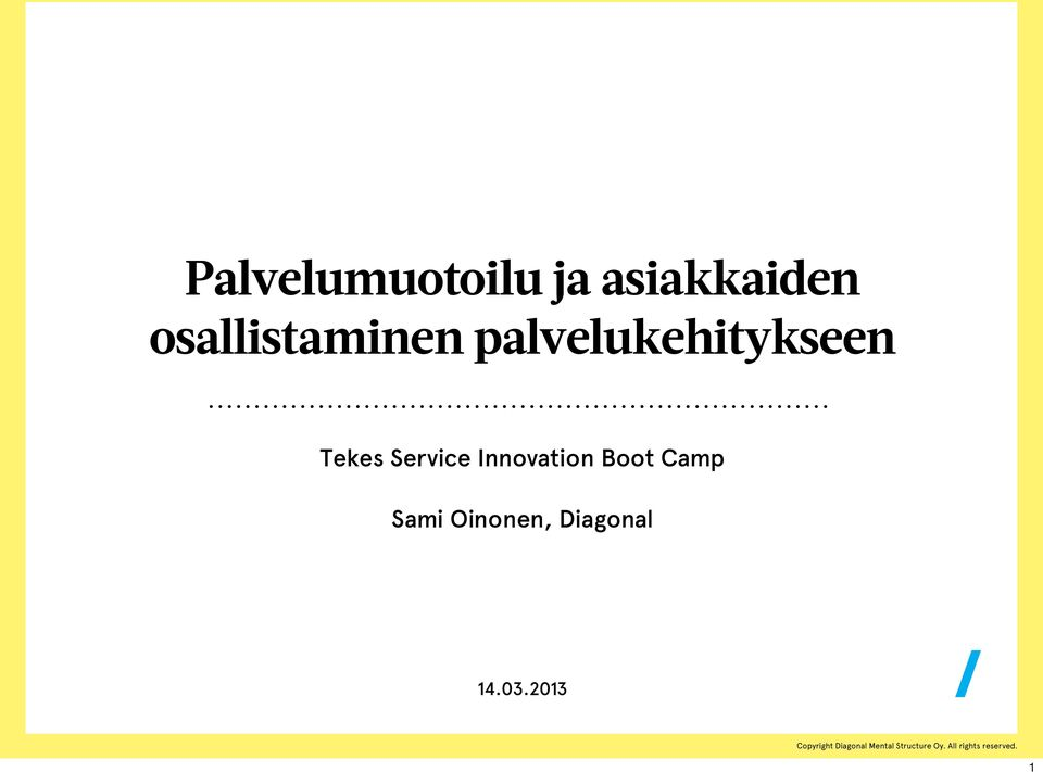 Tekes Service Innovation Boot