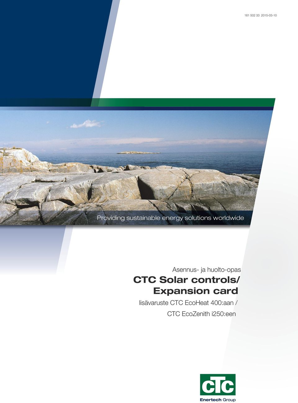huolto-opas CTC Solar controls/ Expansion card