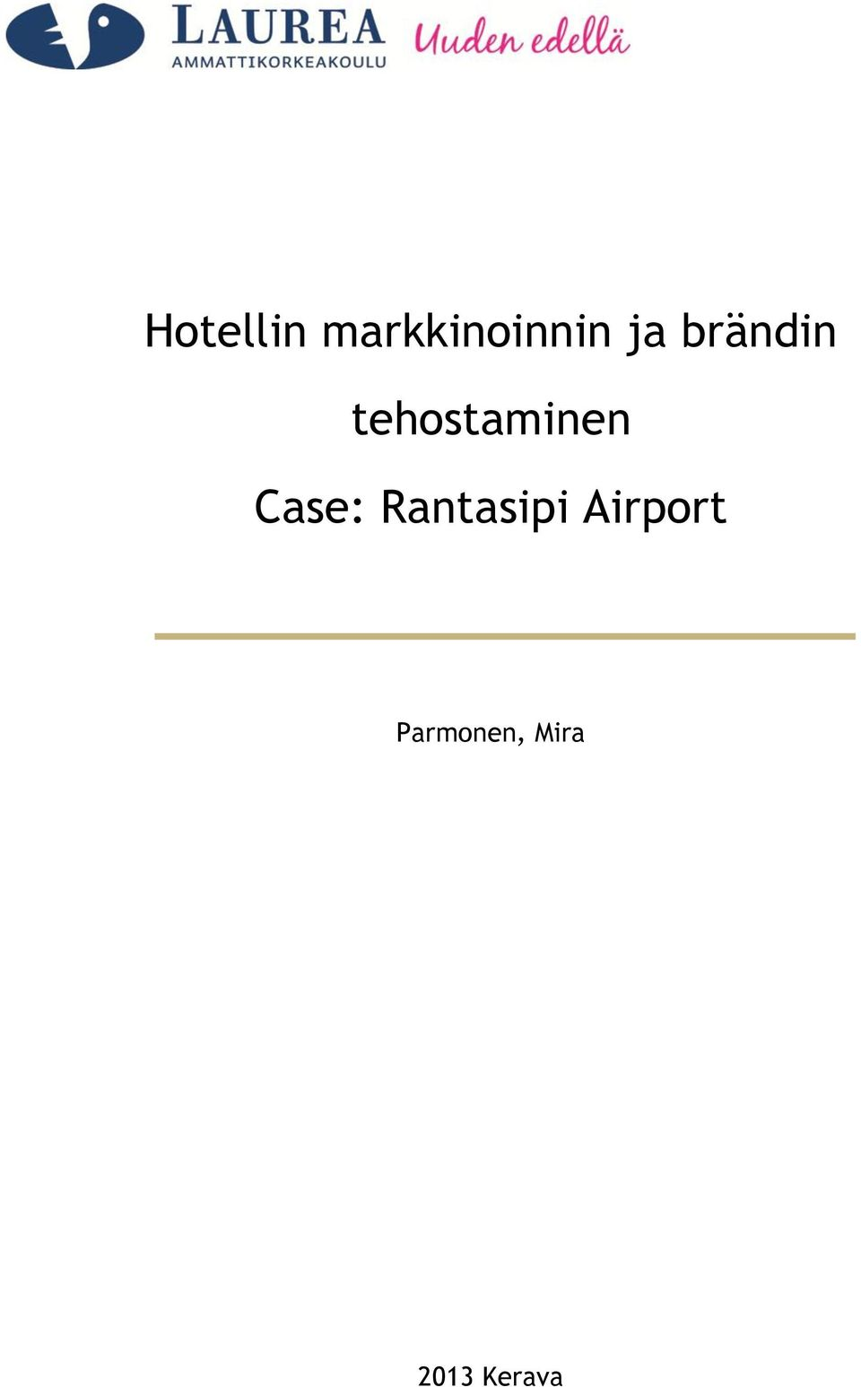 Case: Rantasipi Airport