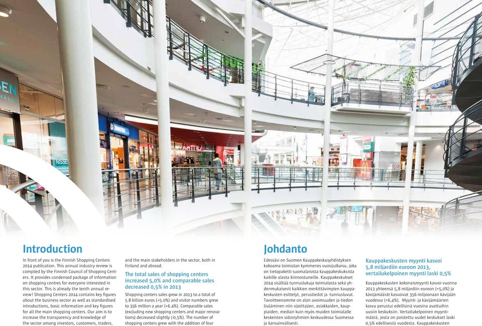 Shopping Centers 0 contains key figures about the business sector as well as standardised introductions, basic information and key figures for all the main shopping centers.