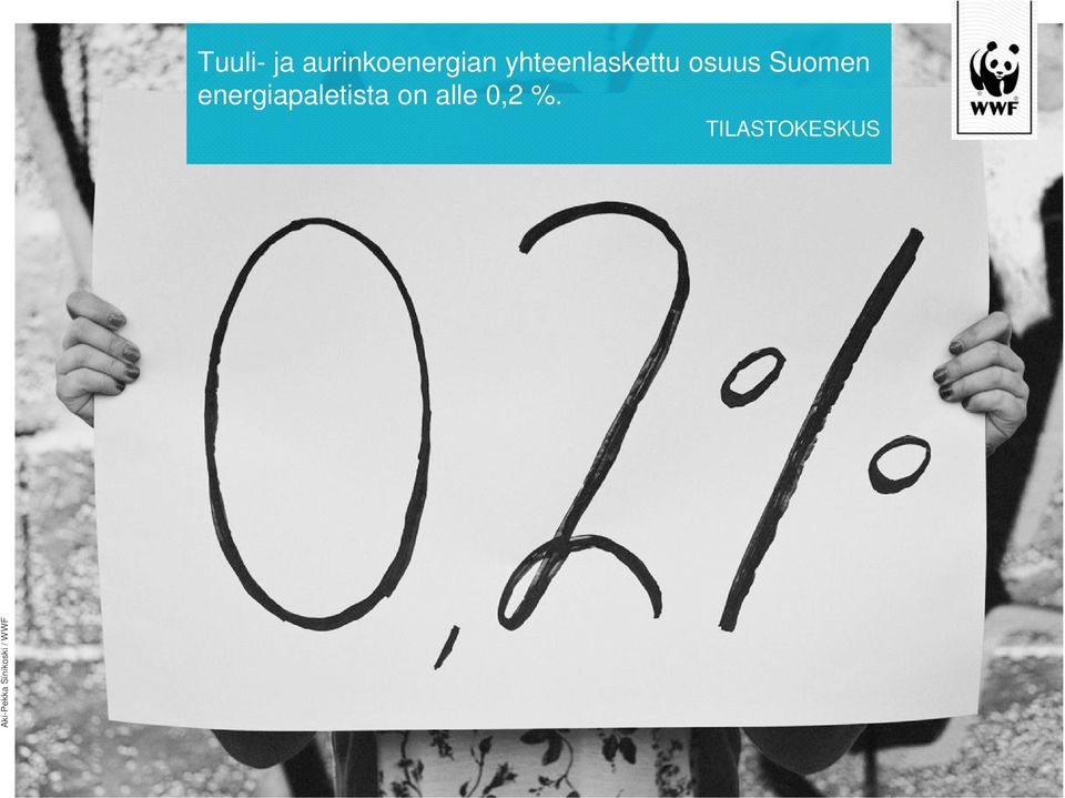 energiapaletista on alle 0,2 %.