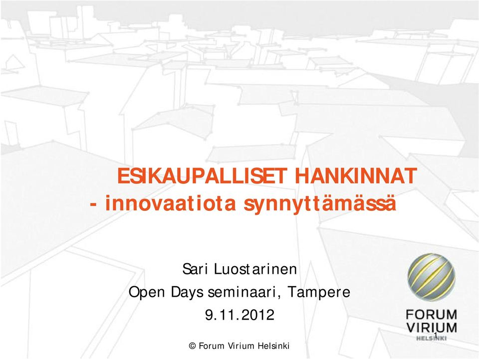 Sari Luostarinen Open Days