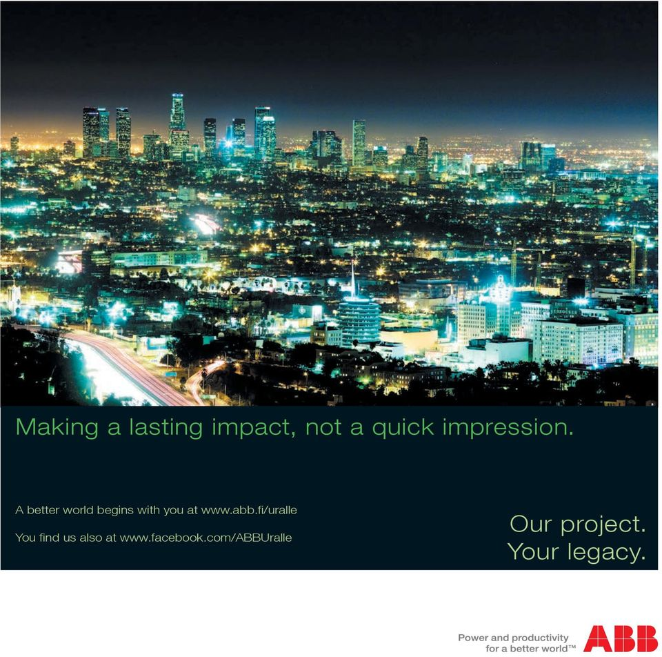 A better world begins with you at www.abb.