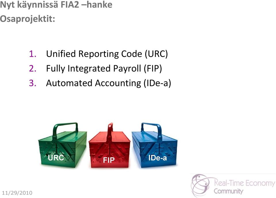 Unified Reporting Code (URC) 2.