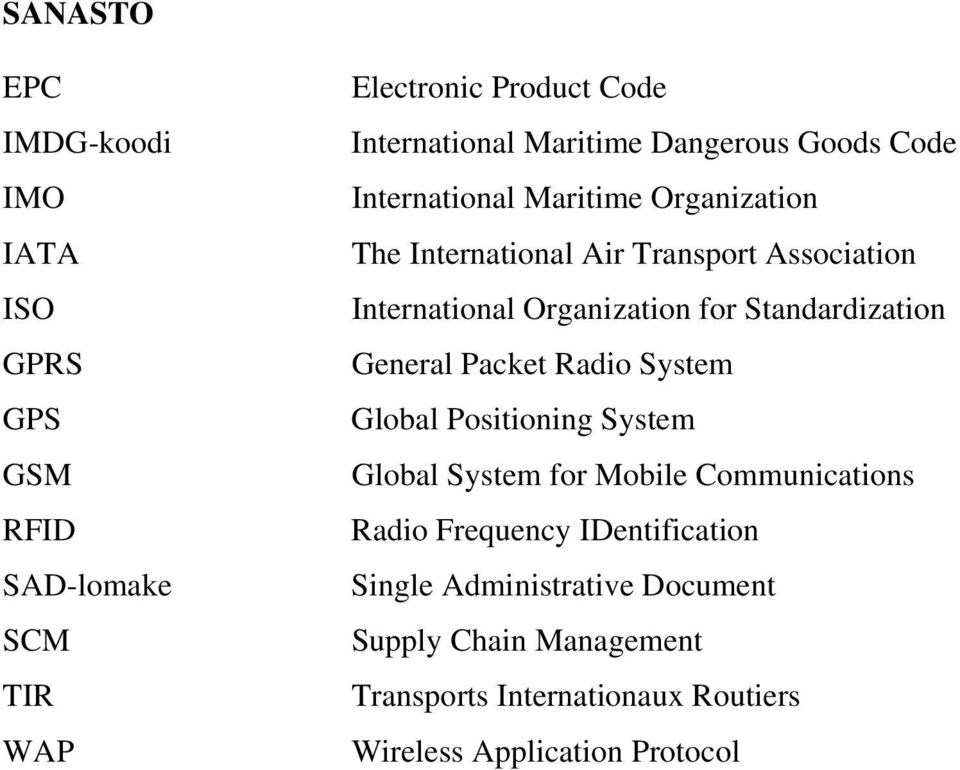 for Standardization General Packet Radio System Global Positioning System Global System for Mobile Communications Radio
