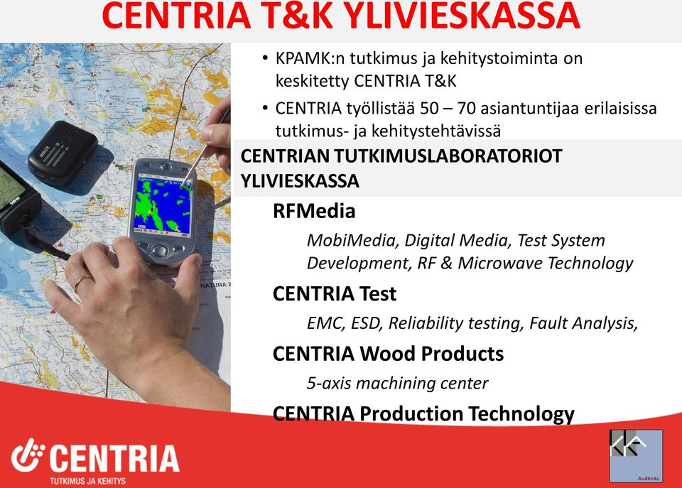 RFMedia MobiMedia, Digital Media, Test System Development, RF & Microwave Technology CENTRIA Test EMC, ESD,
