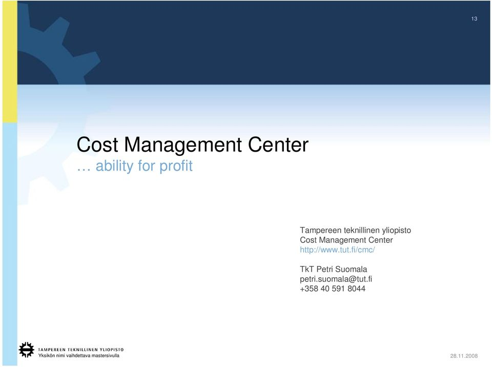 Management Center http://www.tut.