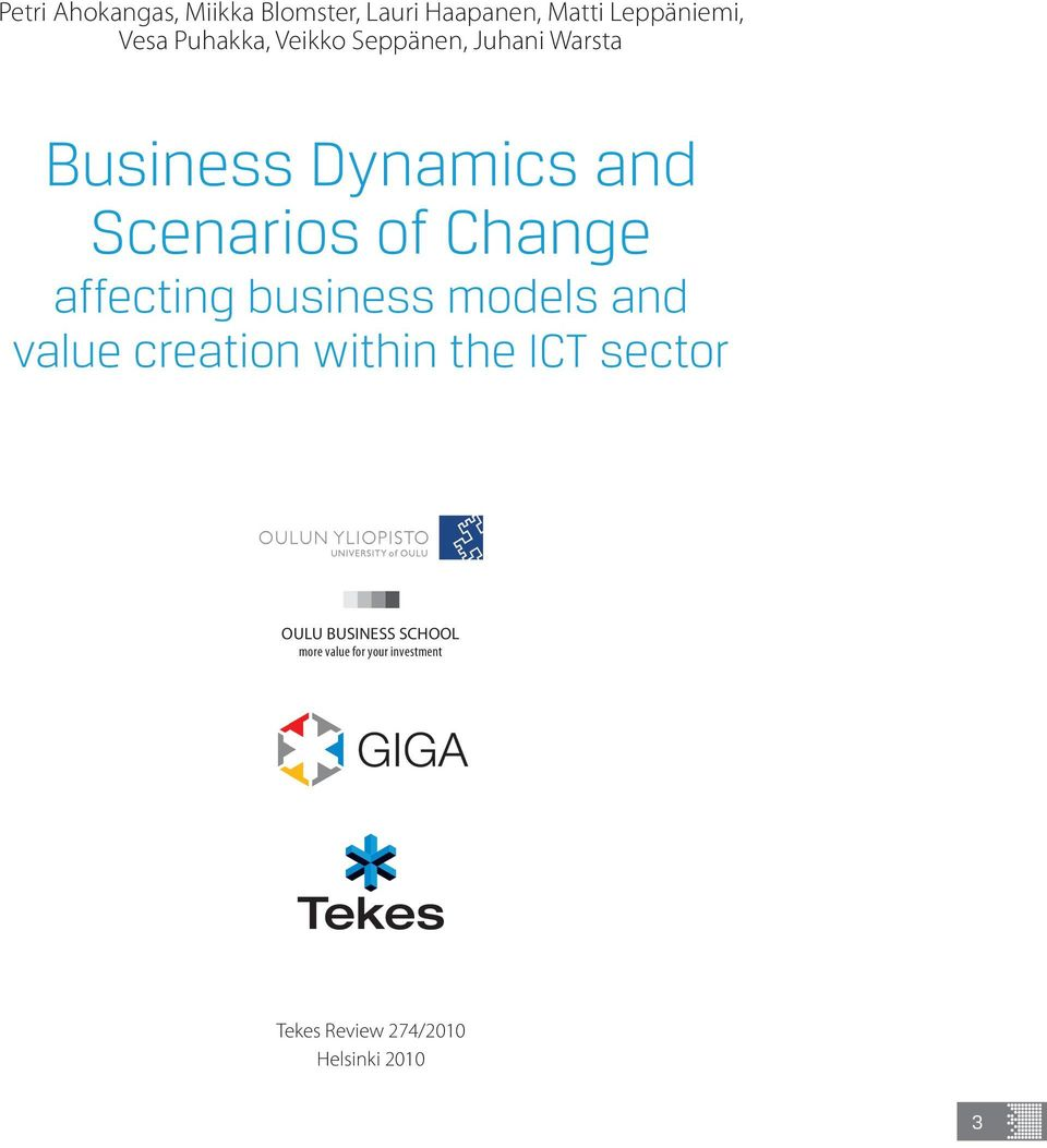 Change affecting business models and value creation within the ICT sector