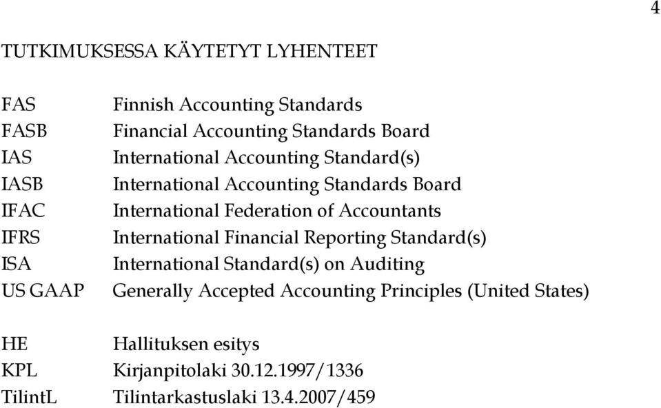 Accountants International Financial Reporting Standard(s) International Standard(s) on Auditing Generally Accepted
