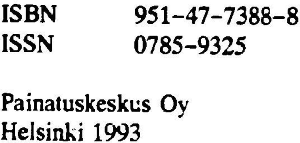 ISSN 0785-9325