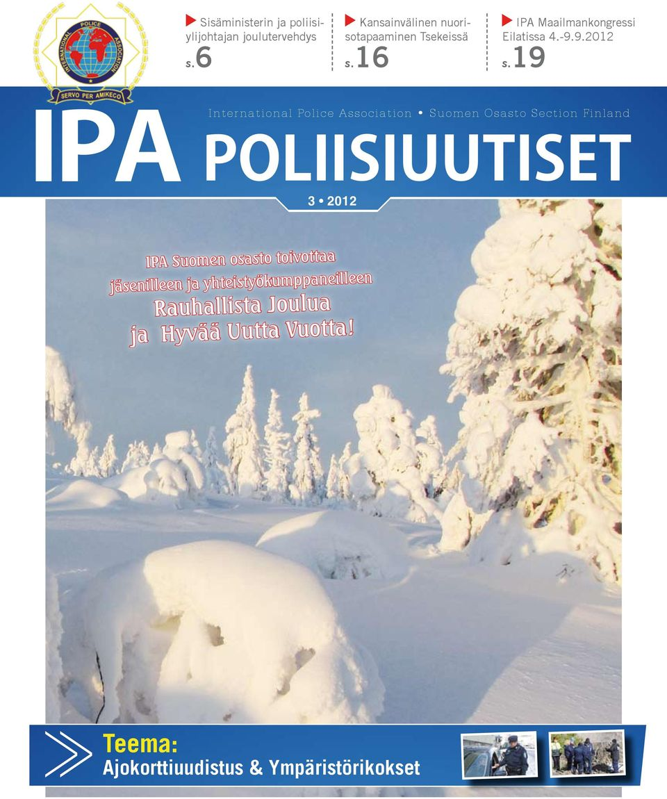 19 IPA 3 International Police Association Suomen Osasto Section Finland Poliisiuutiset 2012 IPA