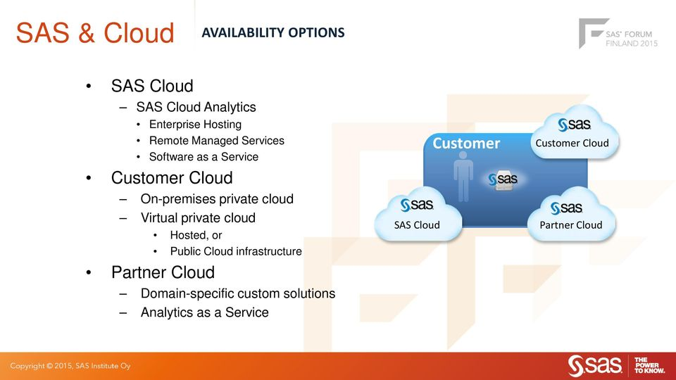 Virtual private cloud Partner Cloud Hosted, or Public Cloud infrastructure