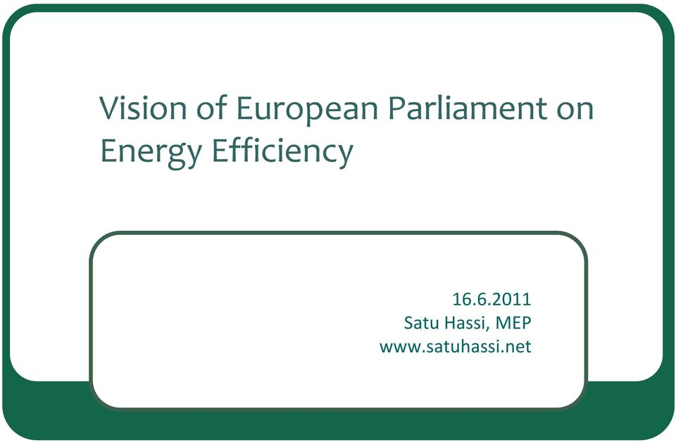 Energy Efficiency 16.