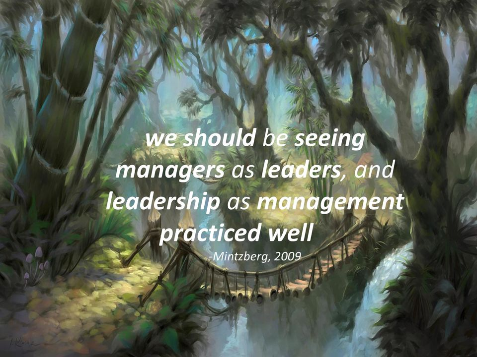 leadership as management