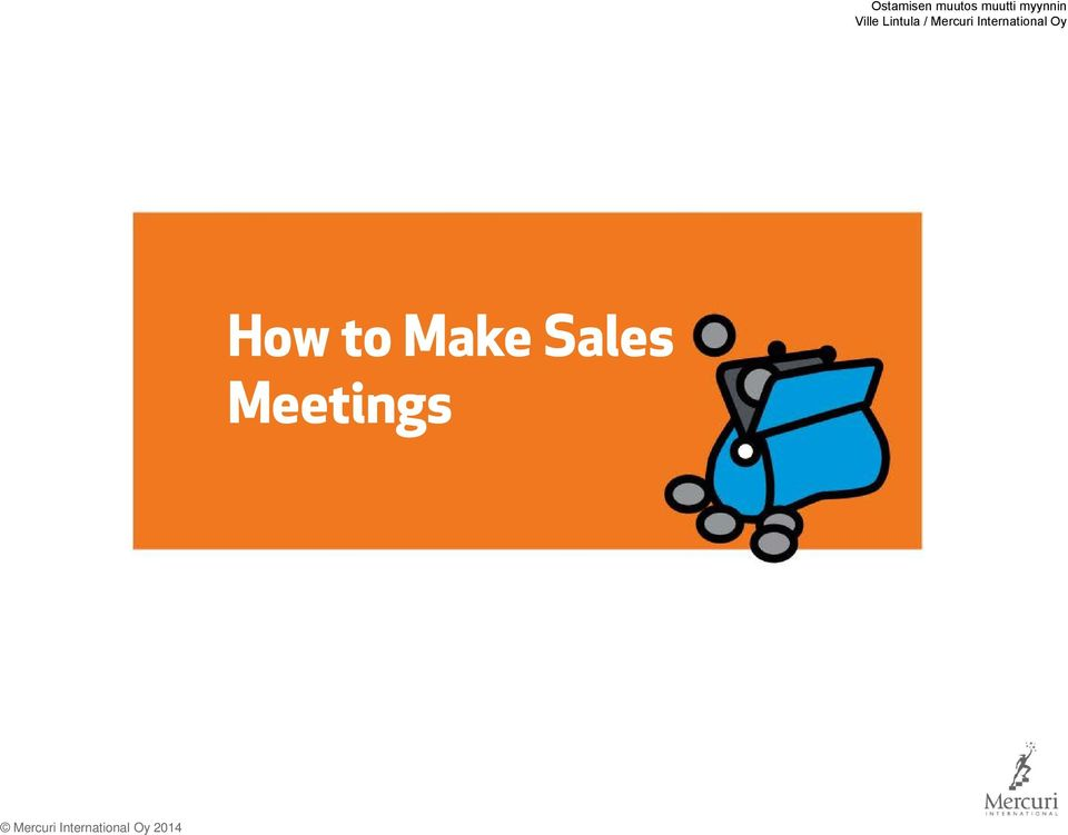 Make Sales Meetings