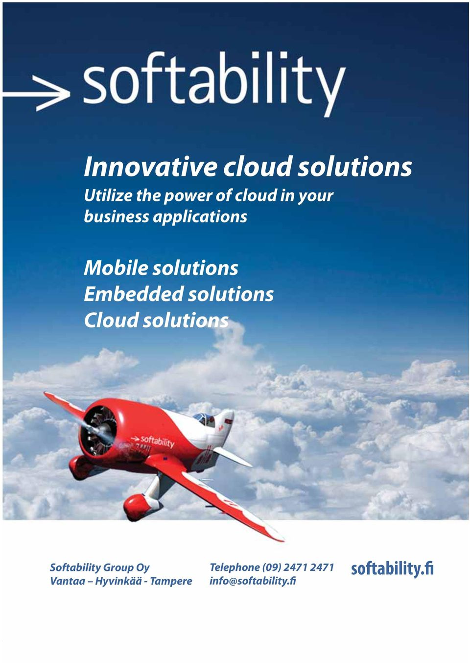 solutions Cloud solutions Softability Group Oy Vantaa