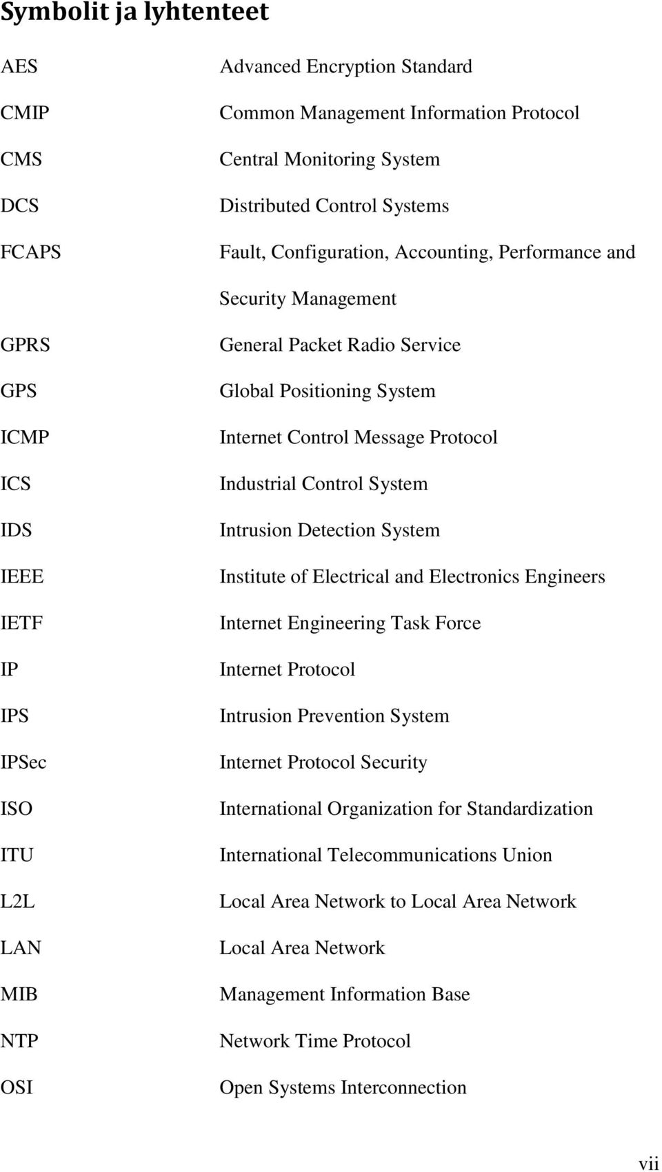 Message Protocol Industrial Control System Intrusion Detection System Institute of Electrical and Electronics Engineers Internet Engineering Task Force Internet Protocol Intrusion Prevention System