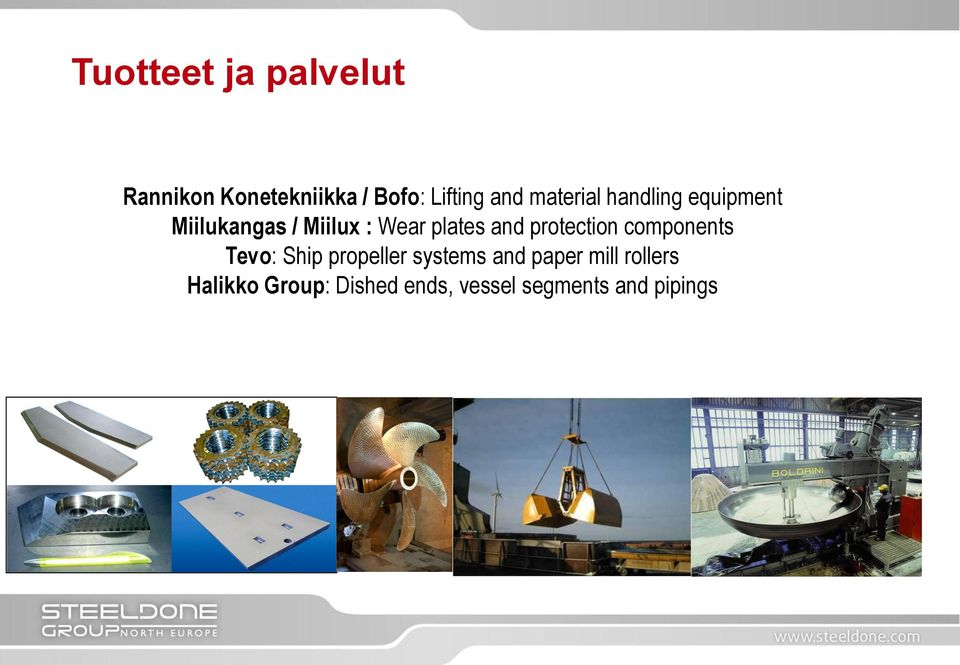 and protection components Tevo: Ship propeller systems and paper
