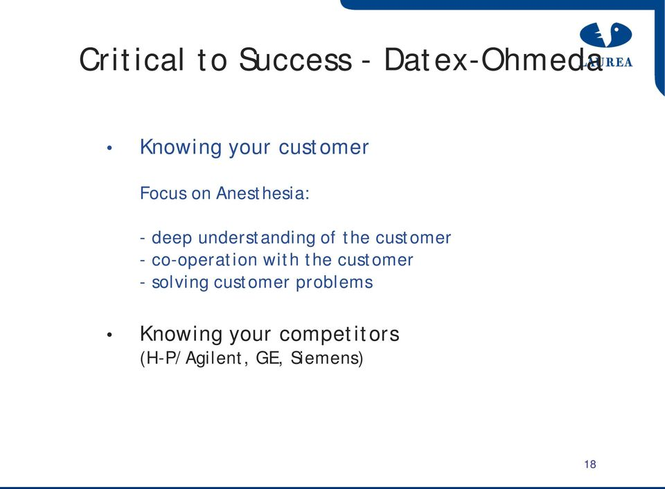 - co-operation with the customer - solving customer