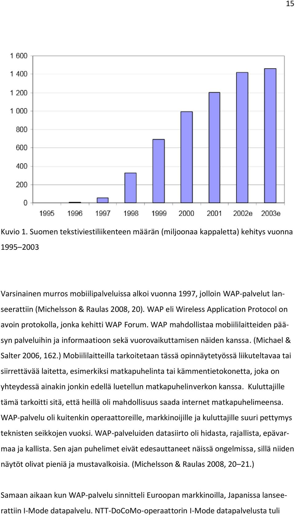 2008, 20). WAP eli Wireless Application Protocol on avoin protokolla, jonka kehitti WAP Forum.