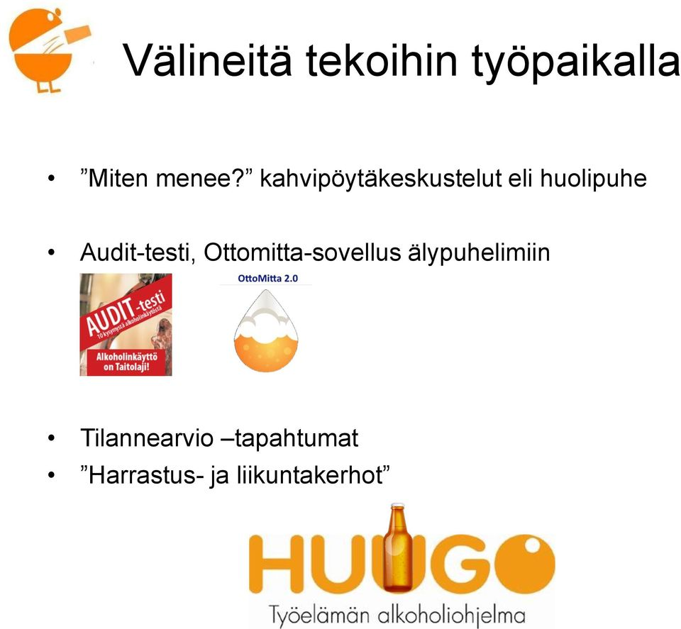 Audit-testi, Ottomitta-sovellus