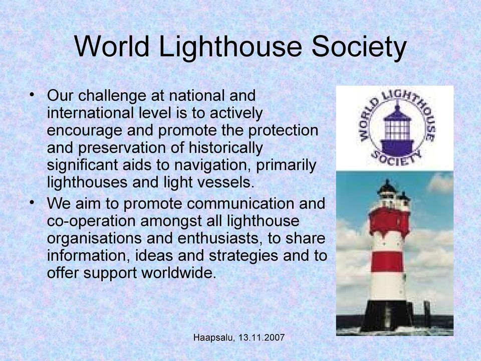 lighthouses and light vessels.