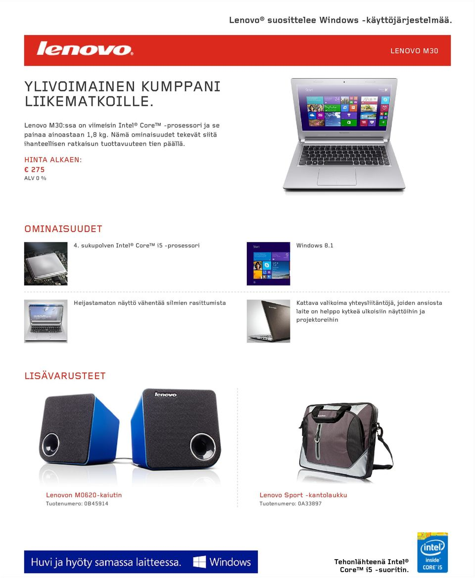 sukupolven Intel Core i5 -prosessori Windows 8.