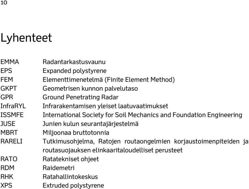 International Society for Soil Mechanics and Foundation Engineering Junien kulun seurantajärjestelmä Miljoonaa bruttotonnia Tutkimusohjelma,