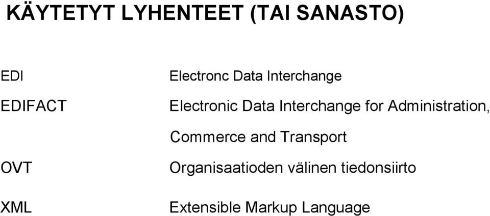 Interchange for Administration, Commerce and