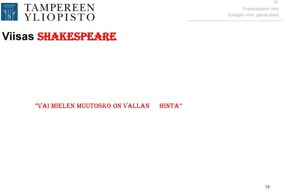 Shakespeare vai