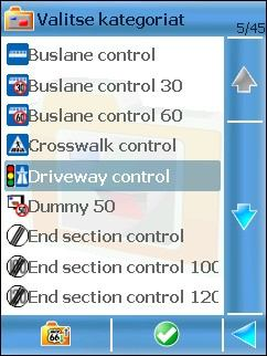 In the popup menu select: around GPS position update the safety camera content covering an area of 20 km radius around your current GPS