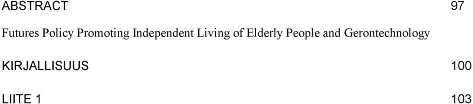 of Elderly People and