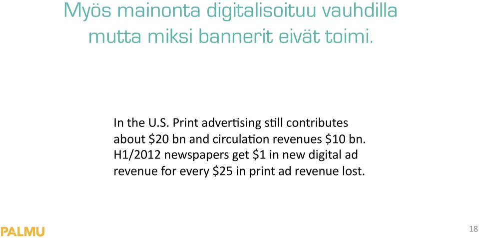 Print adverhsing shll contributes about $20 bn and circulahon