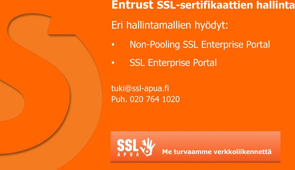 Enterprise Portal SSL Enterprise Portal